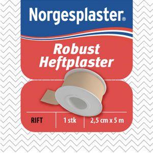 Norgesplaster Heftplaster Tekstil 2,5 cm x 5 m 1 stk, ApotekForDeg, 826735