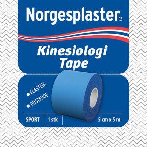 Norgesplaster Kinesiologi Tape 5 cm x 5 m Blå 1 stk, ApotekForDeg, 899571