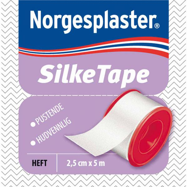 Norgesplaster Silketape 2,5 cm x 5 m 1 stk, ApotekForDeg, 921744