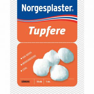Norgesplaster Steril Tupfere 10 stk, ApotekForDeg, 990168