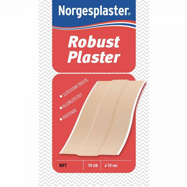 Norgesplaster Tekstil Robust Plaster 6 x 10 cm 10 stk, ApotekForDeg, 826651