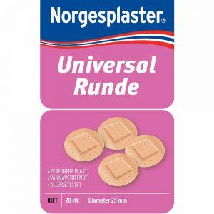 Norgesplaster Universal Runde Plaster 20 stk, ApotekForDeg, 821594