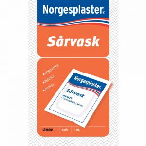 Norgesplaster Våtservietter 6 stk, ApotekForDeg, 981274