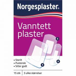Norgesplaster Vanntett Plaster 15 stk, ApotekForDeg, 834230