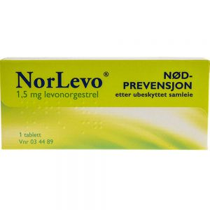 Norlevo 1,5 mg Tablett Angrepille 1 stk, ApotekForDeg, 34489