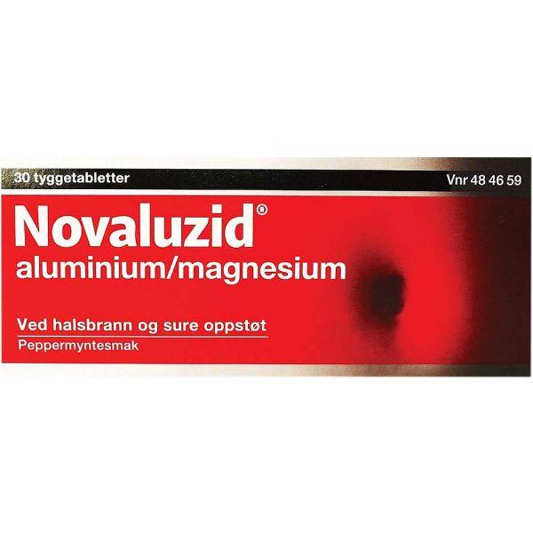 Novaluzid Tyggetabletter Mintsmak 30 stk, ApotekForDeg, 484659