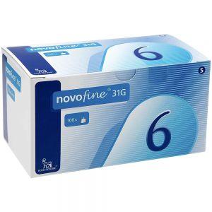 Novofine kanyle 31G 0,25x 6mm, 100 stk, ApotekForDeg, 982637