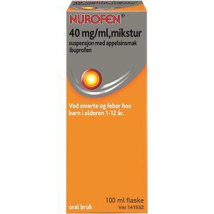 Nurofen Mikstur 40 mg-ml Appelsin 100 ml, ApotekForDeg, 141532