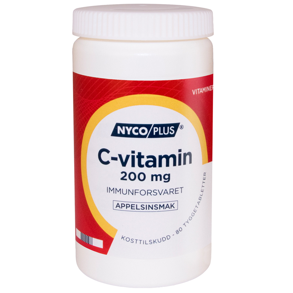 Nycoplus C-vitamin kosttilskudd mot immunforsvaret, Apotekfordeg, 846196