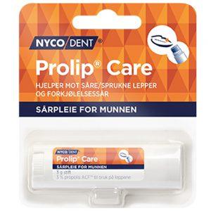 Nycodent prolip care som hjelper mot såre og sprukne lepper og forkjølelsessår, Apotekfordeg, 903061