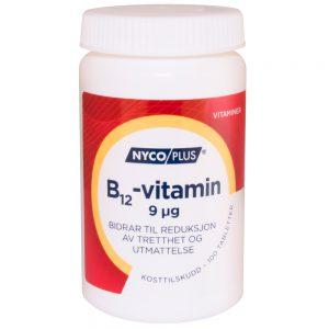 Nycoplus B12-vitamin kosttilskudd som bidrar til reduksjon av tretthet og utmattelse, Apotekfordeg, 949972