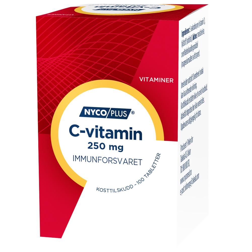 Nycoplus C-vitamin kosttilskudd mot immunforsvaret, Apotekfordeg, 848727