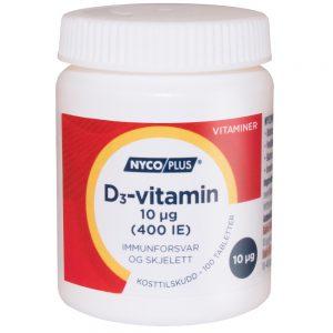 Nycoplus D3-vitamin kosttilskudd mot immunforsvar og skjelett, Apotekfordeg, 901883