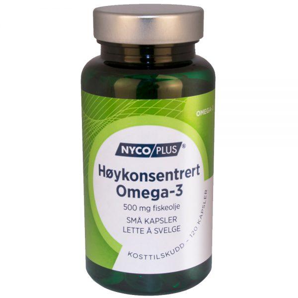 Nycoplus Høykonsentrert Omega-3 kosttilskudd små kapsler, Apotekfordeg, 922575