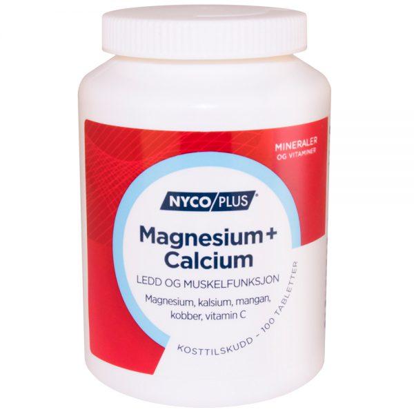 Nycoplus Magnesium + Calcium kosttilskudd mot ledd og muskelfunksjon, Apotekfordeg, 871191