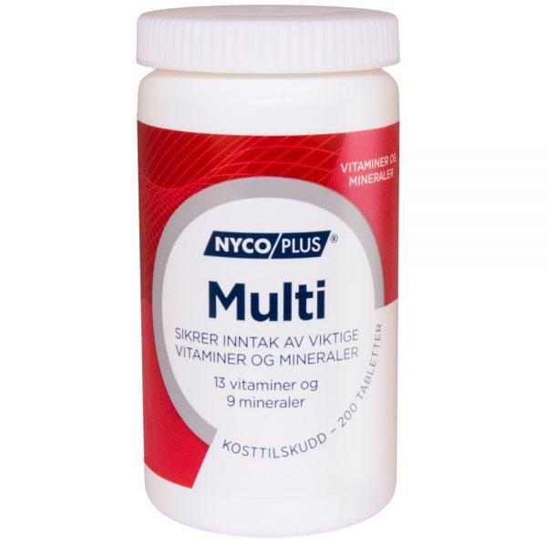 Nycoplus Multi kosttilskudd som sikrer inntak av viktige vitaminer og mineraler, Apotekfordeg, 816227