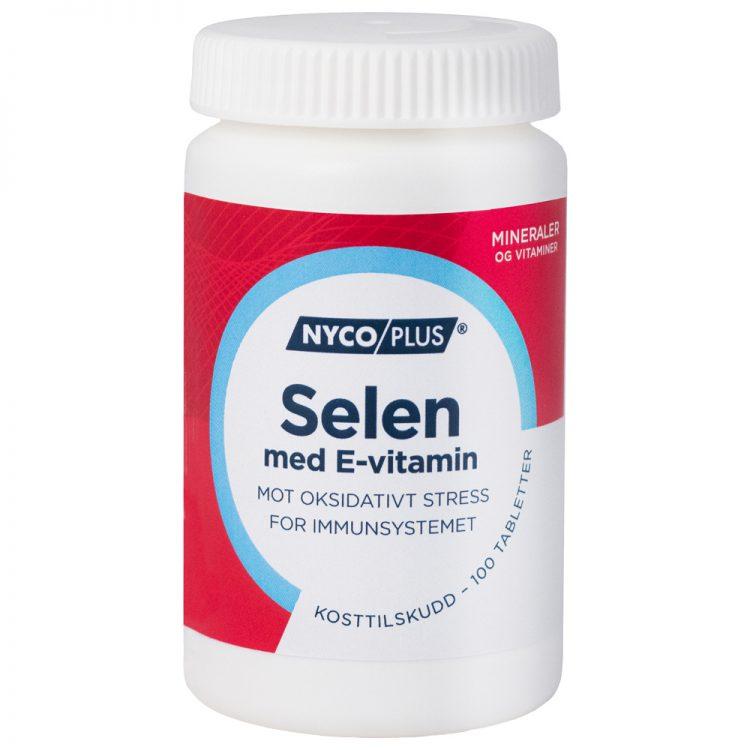 Nycoplus Selen med E-vitamin kosttilskudd mot oksidativt stress for immunforsvaret, Apotekfordeg, 895498