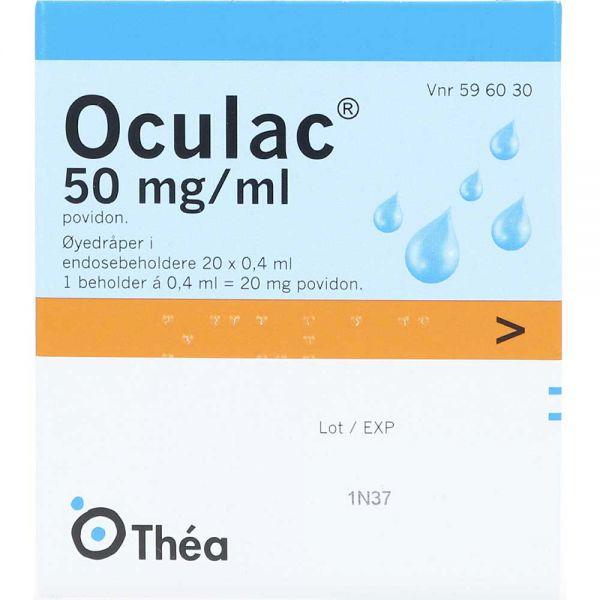 Oculac 50 mg-ml Øyedråper Endosebeholdere 20 stk, ApotekForDeg, 596030
