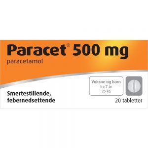 Paracet Tabletter 500 mg 20 stk, Apotekfordeg, 517128