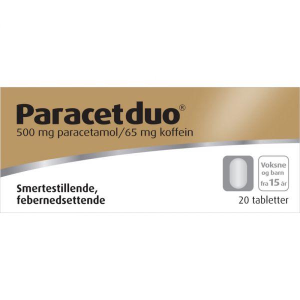 Paracetduo Tabletter 500:65mg 20 stk, Apotekfordeg, 540973