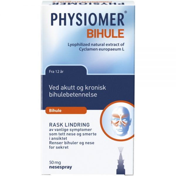 Physiomer nesespray ved akutt og kronisk bihulebetennelse, Apotekfordeg, 891469
