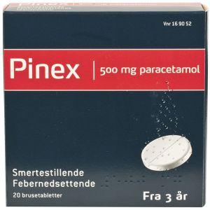 Pinex Brusetabletter 500 mg 20 stk, ApotekForDeg, 169052
