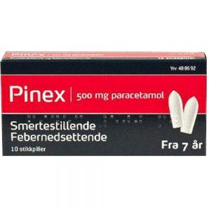 Pinex Stikkpiller 500 mg 10 stk, ApotekForDeg, 488692