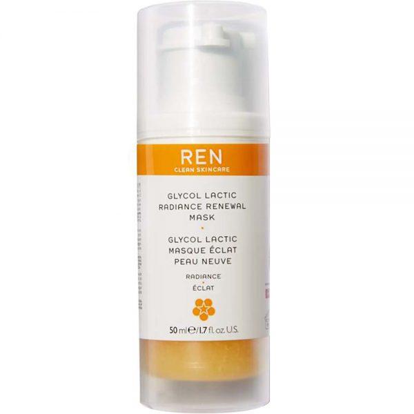 REN Glycol Lactic Radiance Renewal Mask 50 ml ansiktsmaske for glød, Apotekfordeg, 807632