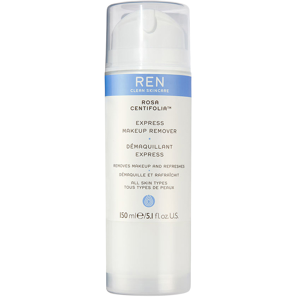 REN clean skincare rosa centifolia express make-up remover, skånsom sminkefjerner for hele ansiktet, 150 ml, ApotekForDeg, 862498