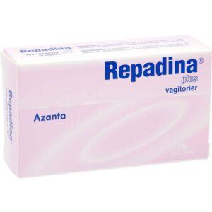 Repadina plus 10 mg vagitorier 10 stk, Apotekfordeg, 922669