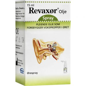 Revaxør olje ørespray som forebygger vokspropp i øret 15 ml, Apotekfordeg, 837439