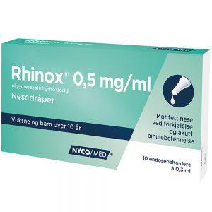 Rhinox nesedråper, Apotekfordeg, 542043