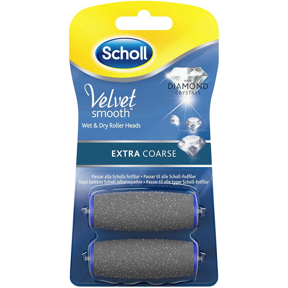 Scholl velvet smooth refill ekstra grov for tykk og hard hud, 2 stk, ApotekForDeg, 878213
