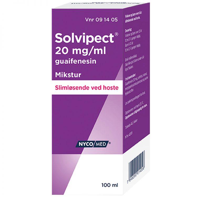Solvipect hostemikstur ved slimhoste, 100 ml, Apotekfordeg, 91405