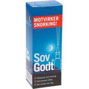 Sov Godt Anti Snork Nesespray 30 ml - motvirker snorking, Apotekfordeg, 906226