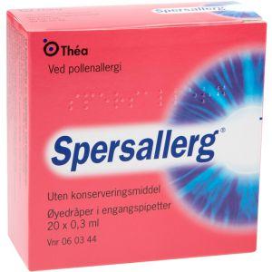 Spersallerg øyedråper, 0,3x 20 doser - egnet for deg med kontaktlinser, Apotekfordeg, 60344