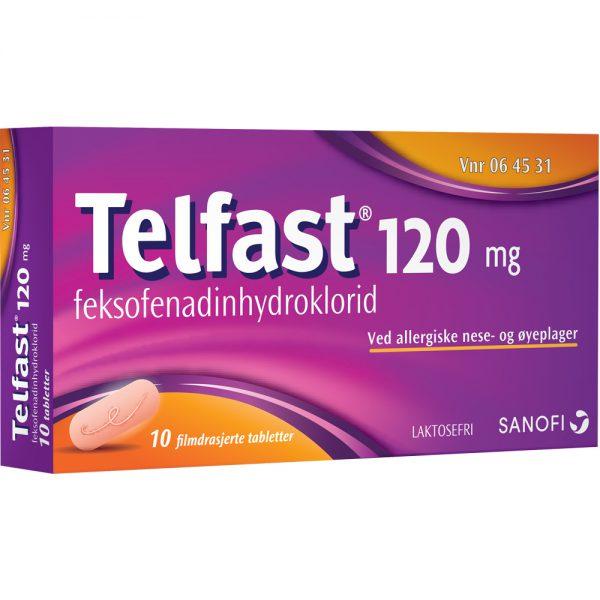Telfast tabletter ved allergiske nese- og øyeplager, Apotekfordeg, 64531