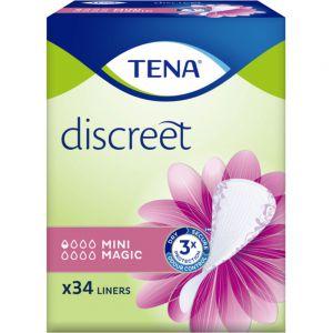 Tena Discreet Mini Magic Truseinnlegg 34 stk - tynt og behagelig truseinnlegg, Apotekfordeg, 906079
