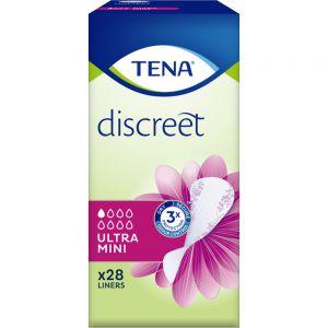 Tena Discreet Ultra Mini Truseinnlegg 28 stk - for lett urinlekkasje, Apotekfordeg, 983908