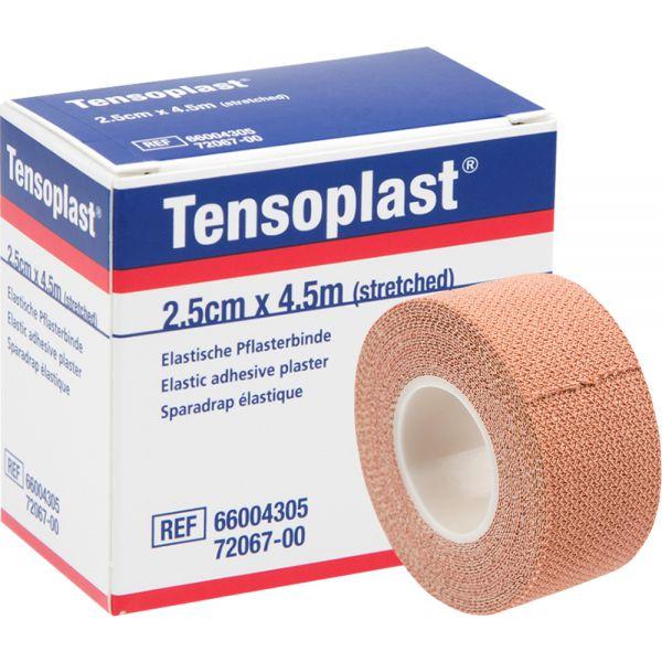Tensoplast 2,5 cm x 4,5 m 1 stk - elastisk fikseringstape, Apotekfordeg, 884197