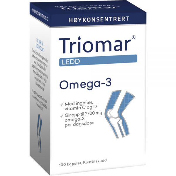 Triomar Ledd Omega-3 Kapsler 100 stk - for sunne ledd, Apotekfordeg, 883825