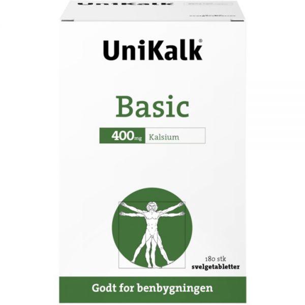 Unikalk Basic Kalsiumtabletter 180 stk godt for benbygningen, Apotekfordeg, 927553