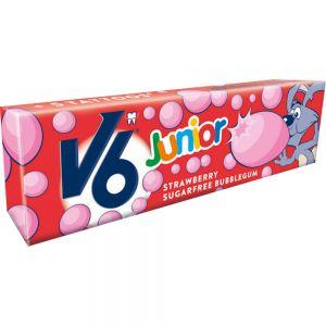 V6 Junior Bubblecious Strawberry 22 g - tyggegummi mot karies, Apotekfordeg, 973368
