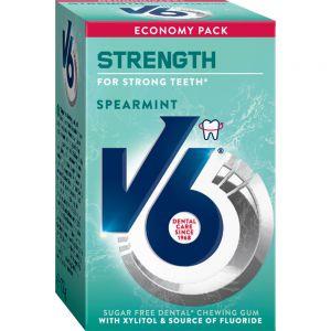 V6 Strength Spearmint 50 stk - sukkerfri tyggegummi, Apotekfordeg, 973494