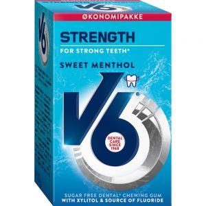 V6 Strength Sweet Menthol 50 stk - sukkerfri tyggegummi, Apotekfordeg, 873959