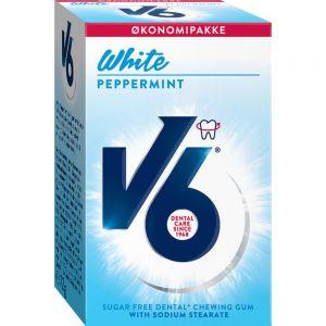 V6 White Peppermint 50 stk - for hvitere tenner, Apotekfordeg, 960642