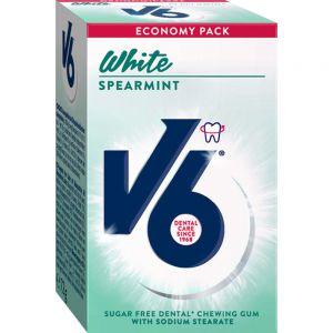 V6 White Spearmint 50 stk - for hvitere tenner, Apotekfordeg, 858336