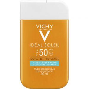 Vichy Idéal Soleil SPF50 Pocket Size 30 ml - reisestørrelse, Apotekfordeg, 869789
