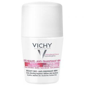 Vichy beauty deo antiperspirant 48h, effektiv deodorant for jevnere og glattere hud, 50 ml, apotekfordeg, 888909