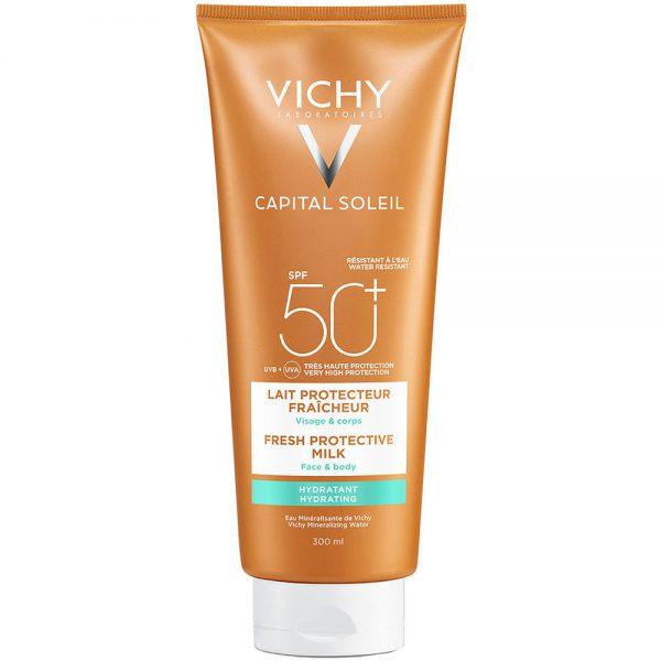 Vichy capital soleil SPF50+, fuktgivende solkrem til ansikt og kropp, Apotekfordeg, 851688